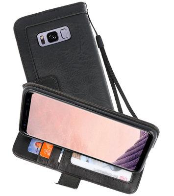 Zwart Luxe Portemonnee Hoesje voor Samsung Galaxy S8