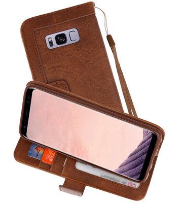 Bruin Luxe Portemonnee Hoesje voor Samsung Galaxy S8
