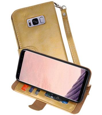 Goud Luxe Portemonnee Hoesje voor Samsung Galaxy S8 Plus