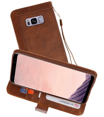 Bruin Luxe Portemonnee Hoesje voor Samsung Galaxy S8 Plus