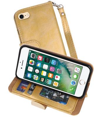 Goud Luxe Portemonnee Hoesje voor Apple iPhone 7 / 8