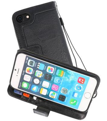 Zwart Luxe Portemonnee Hoesje voor Apple iPhone 7 / 8