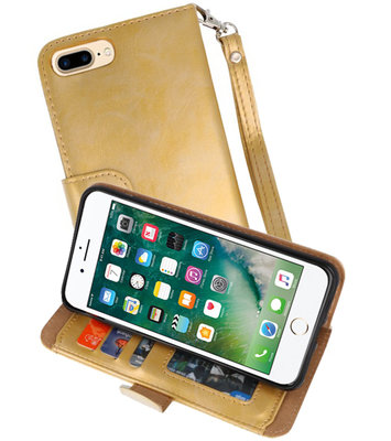 Goud Luxe Portemonnee Hoesje voor Apple iPhone 7 Plus / 8 Plus