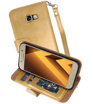 Goud Luxe Portemonnee Hoesje voor Samsung Galaxy A5 2017