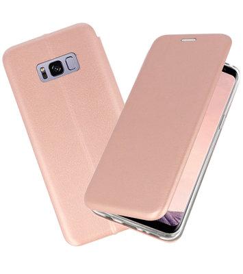 Roze Premium Folio Wallet Hoesje voor Samsung Galaxy S8 Plus