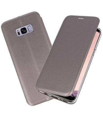 Grijs Premium Folio Wallet Hoesje voor Samsung Galaxy S8 Plus