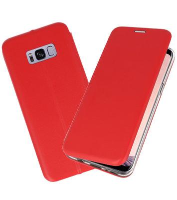 Rood Premium Folio Wallet Hoesje voor Samsung Galaxy S8 Plus