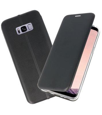 Zwart Premium Folio Wallet Hoesje voor Samsung Galaxy S8 Plus