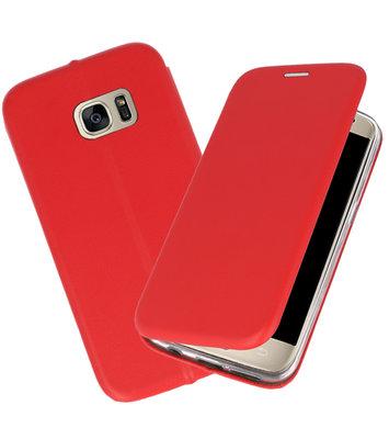 Rood Premium Folio Wallet Hoesje voor Samsung Galaxy S7