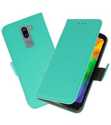 Groen booktype wallet case Hoesje voor LG Q7