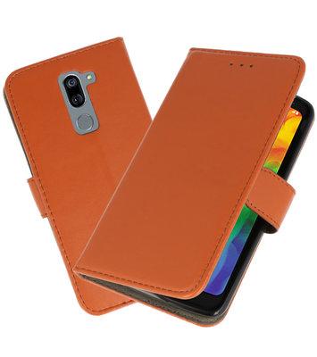 Bruin booktype wallet case Hoesje voor LG Q7