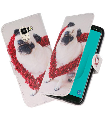 Hond booktype wallet case Hoesje voor Samsung Galaxy J4 2018