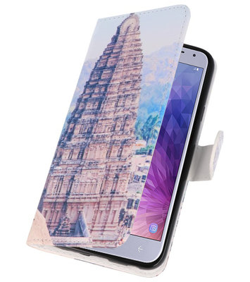Tempel 1 booktype wallet case Hoesje voor Huawei Y6 2018