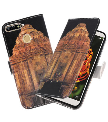 Tempel 2 booktype wallet case Hoesje voor Huawei Y6 2018