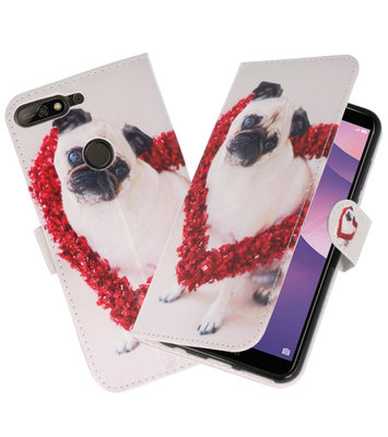 Hond booktype wallet case Hoesje voor Huawei Y7 2018 / Y7 Prime 2018