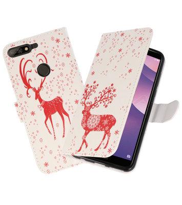 Hert booktype wallet case Hoesje voor Huawei Y7 2018 / Y7 Prime 2018
