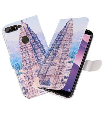 Tempel 1 booktype wallet case Hoesje voor Huawei Y7 2018 / Y7 Prime 2018