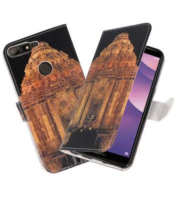 Tempel 2 booktype wallet case Hoesje voor Huawei Y7 2018 / Y7 Prime 2018