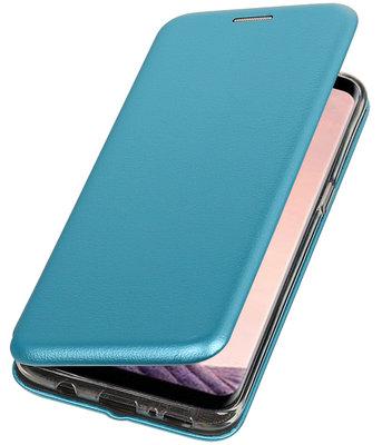 Blauw Premium Folio leder look booktype Hoesje voor Apple iPhone X