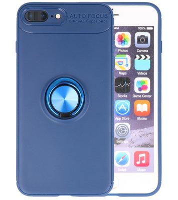 Navy Zacht TPU met Ringhouder hoesje voor Apple iPhone 7 Plus / 8 Plus