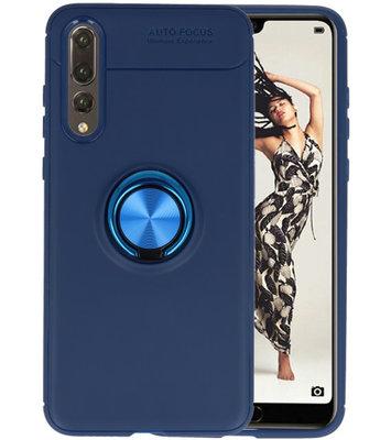 Navy Zacht TPU met Ringhouder hoesje voor Huawei P20 Pro