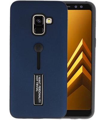 Navy Stand Case hoesje voor Samsung Galaxy A8 2018