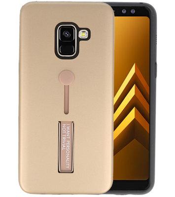 Goud Stand Case hoesje voor Samsung Galaxy A8 2018