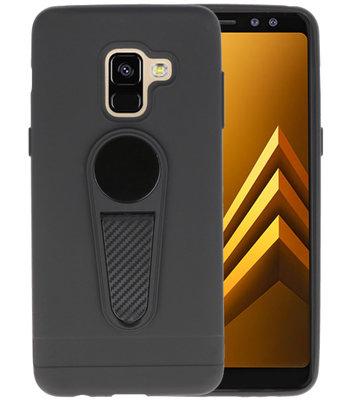 Zwart Magneet Stand Case hoesje voor Samsung Galaxy A8 2018