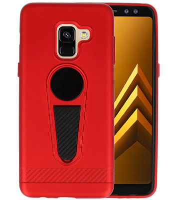 Rood Magneet Stand Case hoesje voor Samsung Galaxy A8 2018