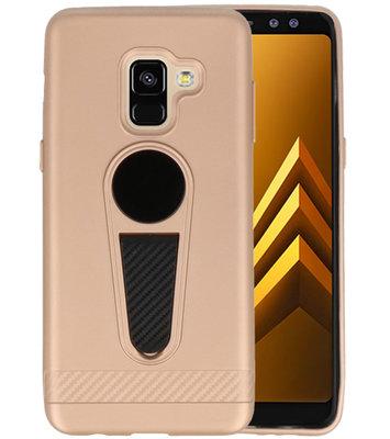 Goud Magneet Stand Case hoesje voor Samsung Galaxy A8 2018
