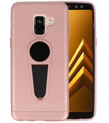 Roze Magneet Stand Case hoesje voor Samsung Galaxy A8 2018