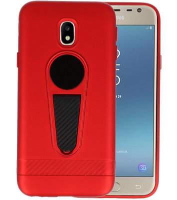 Rood Magneet Stand Case hoesje voor Samsung Galaxy J3 2017