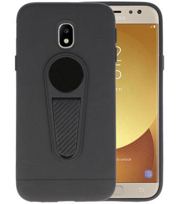 Zwart Magneet Stand Case hoesje voor Samsung Galaxy J5 2017
