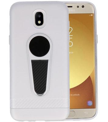 Zilver Magneet Stand Case hoesje voor Samsung Galaxy J5 2017