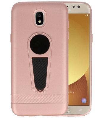 Roze Magneet Stand Case hoesje voor Samsung Galaxy J5 2017
