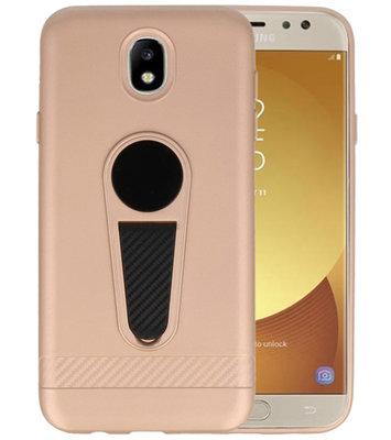 Goud Magneet Stand Case hoesje voor Samsung Galaxy J7 2017 / Pro