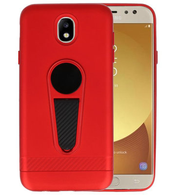 Rood Magneet Stand Case hoesje voor Samsung Galaxy J7 2017 / Pro