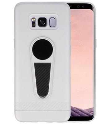 Zilver Magneet Stand Case hoesje voor Samsung Galaxy S8