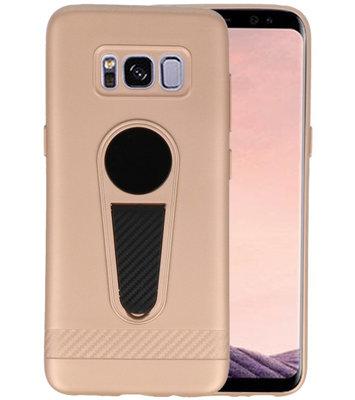 Goud Magneet Stand Case hoesje voor Samsung Galaxy S8