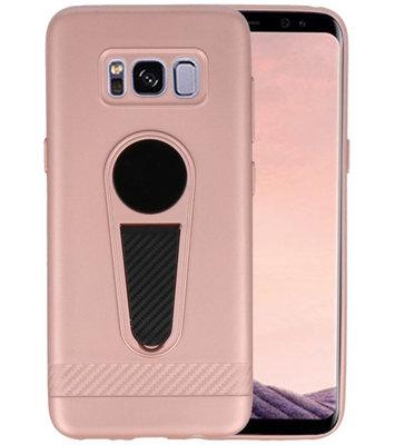 Roze Magneet Stand Case hoesje voor Samsung Galaxy S8