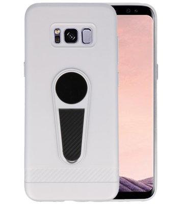 Zilver Magneet Stand Case hoesje voor Samsung Galaxy S8 Plus