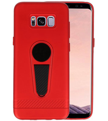 Rood Magneet Stand Case hoesje voor Samsung Galaxy S8 Plus