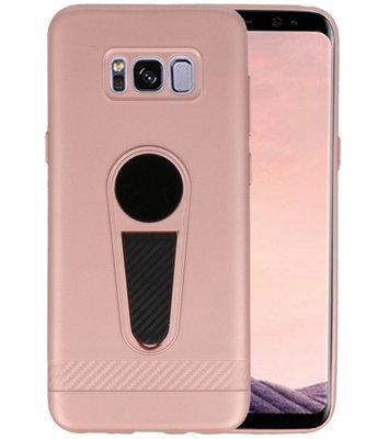 Roze Magneet Stand Case hoesje voor Samsung Galaxy S8 Plus