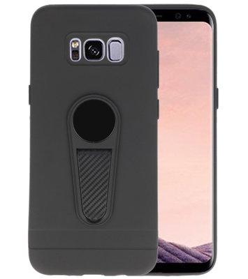 Zwart Magneet Stand Case hoesje voor Samsung Galaxy S8 Plus