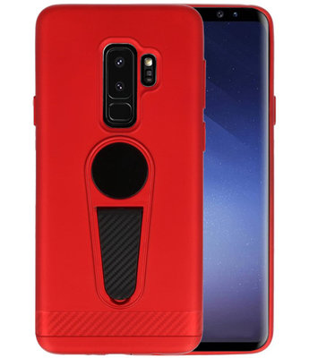 Rood Magneet Stand Case hoesje voor Samsung Galaxy S9 Plus