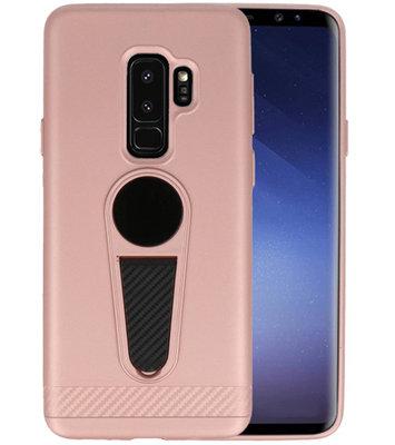 Roze Magneet Stand Case hoesje voor Samsung Galaxy S9 Plus