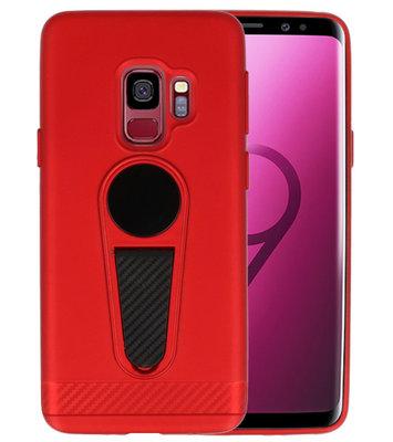 Rood Magneet Stand Case hoesje voor Samsung Galaxy S9