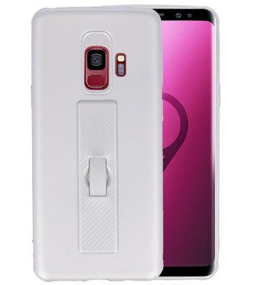 Zilver Carbon serie Zacht Case hoesje voor Samsung Galaxy S9