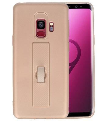 Goud Carbon serie Zacht Case hoesje voor Samsung Galaxy S9