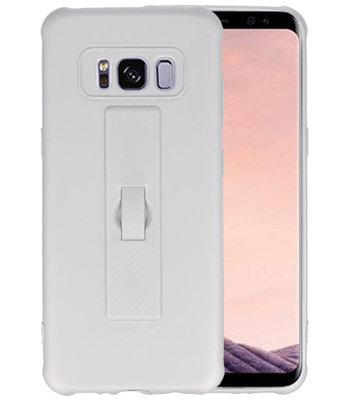 Zilver Carbon serie Zacht Case hoesje voor Samsung Galaxy S8
